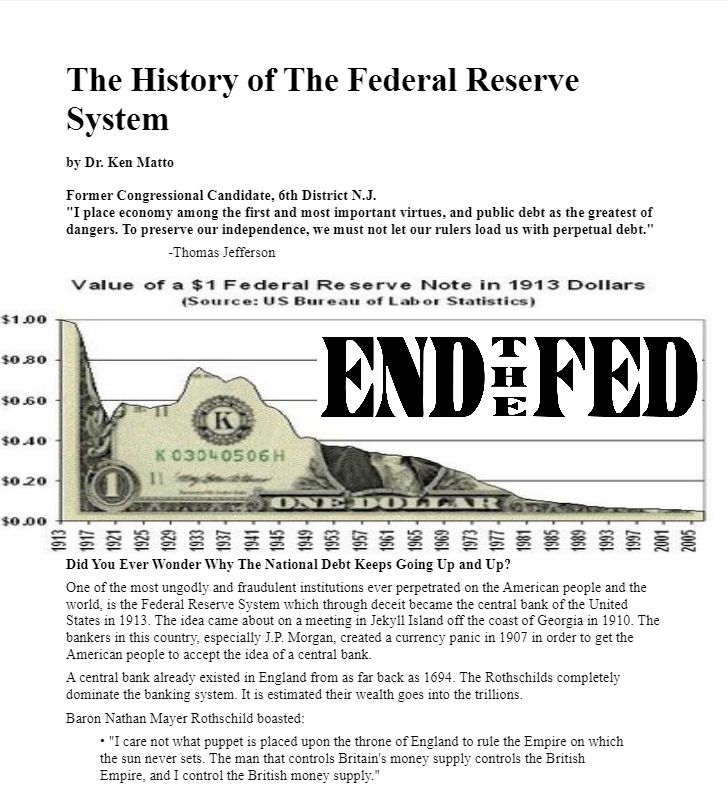 The History of The Federal Reserve System  INFOWARS.COM  BECAUSE THERE'S A WAR ON FOR YOUR MIND