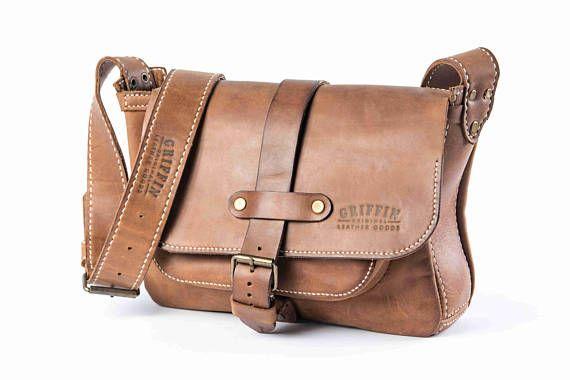 Brown messenger bag leather courier bag custom messenger bag
