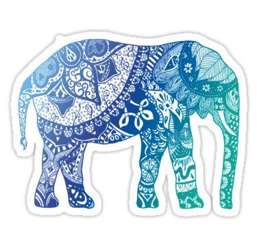 """Blue Elephant"" Stickers by adjsr | Redbubble"