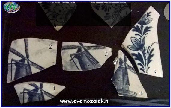 Broche Delfts Blauw ~ Smithereens Jewelry