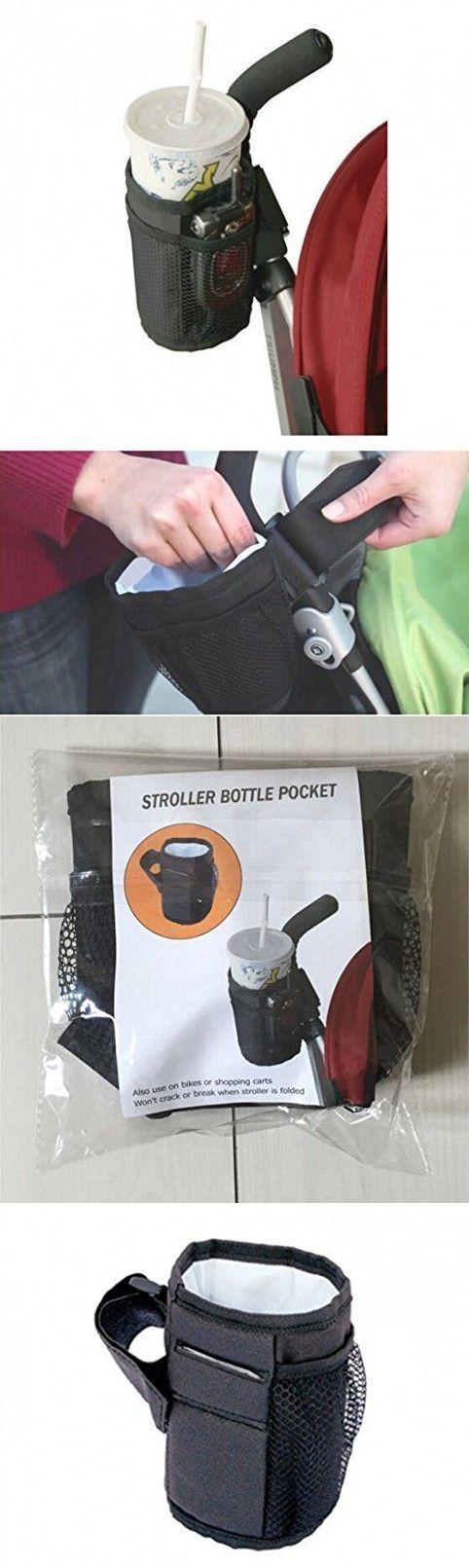 LASLU Waterproof Bottle Cup Holder for Stroller Bottle Thermal Bag Baby Buggy Cup Holder Soft Buggy Cup for Stroller, Wheelchair, Rollator, Walker