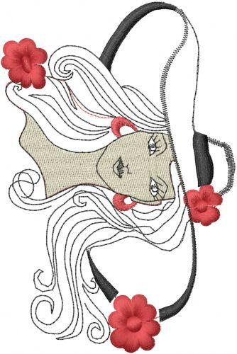 Fancy Woman embroidery design  AnnTheGran.com