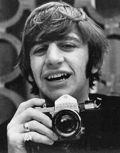 Ringo Starr with a Pentax SLR