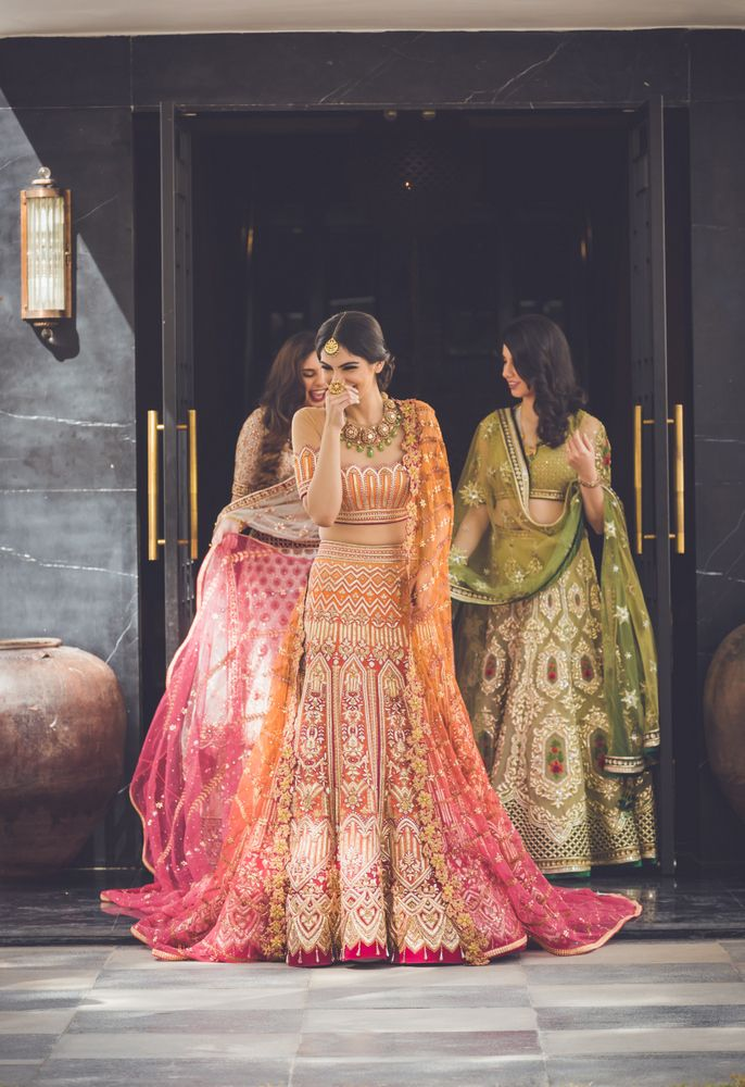 Bridal Lehenga - Candid Shot of the Bride in a Tarun Tahiliani Lehenga  #wedmegood #indianbride #lehenga #bridal #indianbride #indianlehenga #weddinglehenga #taruntahiliani