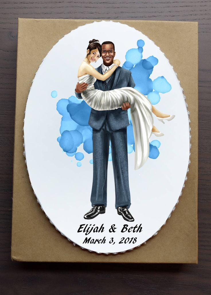 "Custom Wedding Cake Topper, ""Hold On Tight"",  Personalized Cake Topper, Wedding Illustration, Wedding Portrait, Interracial Cake Topper by DragonlayceDesigns on Etsy"
