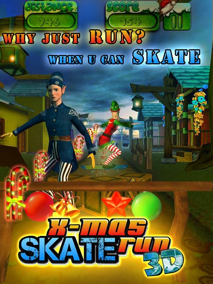 New Levels & New Challenges, Endless Fun...... https://play.google.com/store/apps/details?id=com.Pixslate.xmasSkate   X-Mas Skate Run 3D Now Available on AppStore https://itunes.apple.com/in/app/x-mas-skate-un-3d/id931252001?mt=8