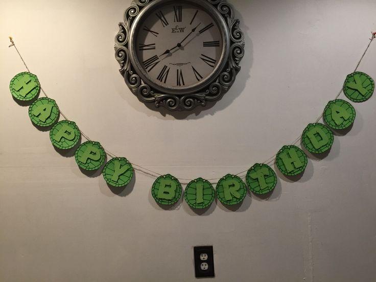 Ninja Turtles 3D Birthday Banner!!     https://www.etsy.com/listing/486310312/3d-ninja-turtles-birthday-banner