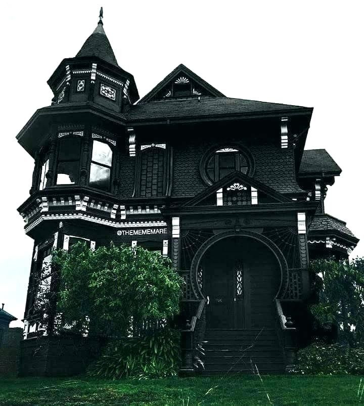 Victorian Gothic Revival House House Home Decor Unthinkable Home Homes Decor Revival Style Kits Hol Black House Exterior Gothic House Victorian House Interiors