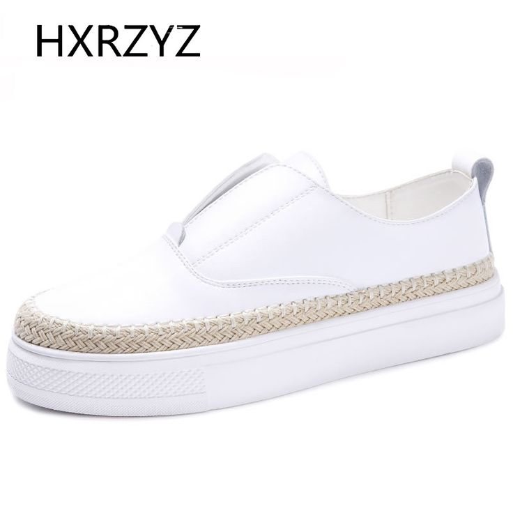 Spring and Autumn new fashion women shoes ladies casual shoes female student leather thick bottoms platform shoes black flats #Affiliate