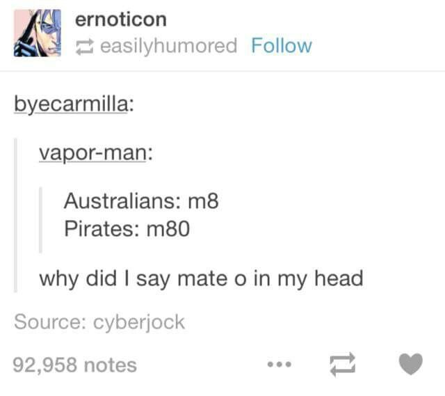 I read it as mate o got confused and after reading the comment stared at the word for a few minutes and then I was like 'ohhh'