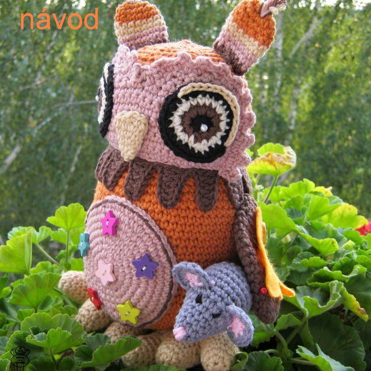 Háčkovaná sova Jůlinka/The owl Návod na háčkování/Crochet patterns tutorial