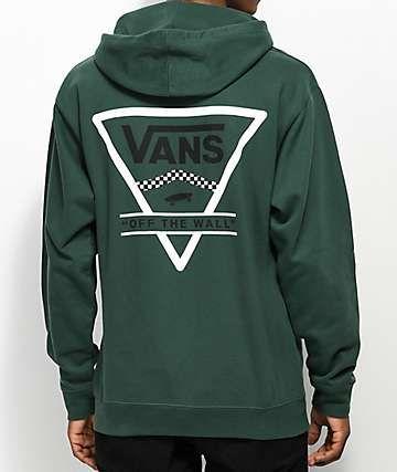 81d15e45bc Vans Triangle Alpine Green Hoodie | Clothes | Vans hoodie, Hoodies