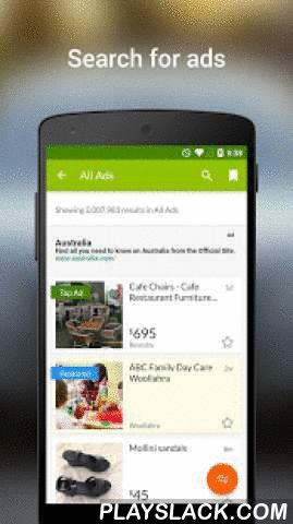 Gumtree Australia  Android App - playslack.com ,  Browse, buy and sell on the go with Gumtree, Australia's #1 online classifieds.Download our free app to instantly have over 1.5 million listings in your pocket, from real estate and furniture, to cars, clothes and casual work. Whether you want to find something specific or just browse, the Gumtree app makes it easy. With the tap of a finger, view listings in all their glory (complete with hi-res images), refine your search, find listings…