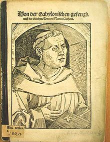 In this work Luther examines the seven sacraments of the Catholic Church in the light of his interpretation of the Bible. With regard to the Eucharist, he advocates restoring the cup to the laity, dismisses the Catholic doctrine of Transubstantiation but affirms the real presence of the body and blood of Christ in the Eucharist, and rejects the teaching that the Mass is a sacrifice offered to God.