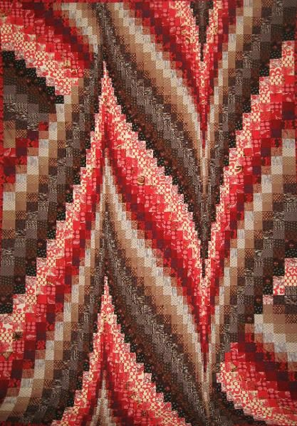 Beautiful Bargello Quilt. These are surprisingly simple to make!