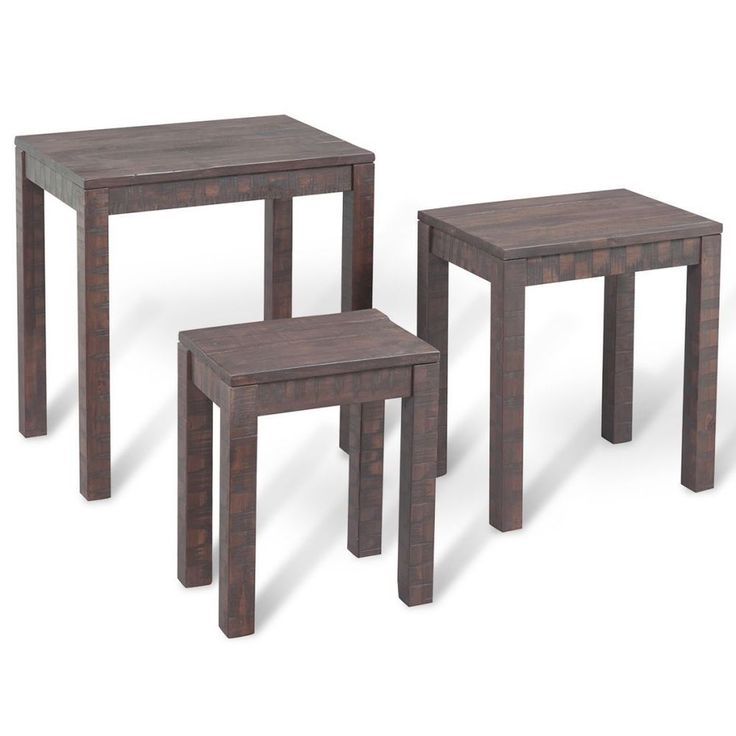 Set Of Three Nest Coffee Tables End Side Tables Nightstands Telephone Stands Uk