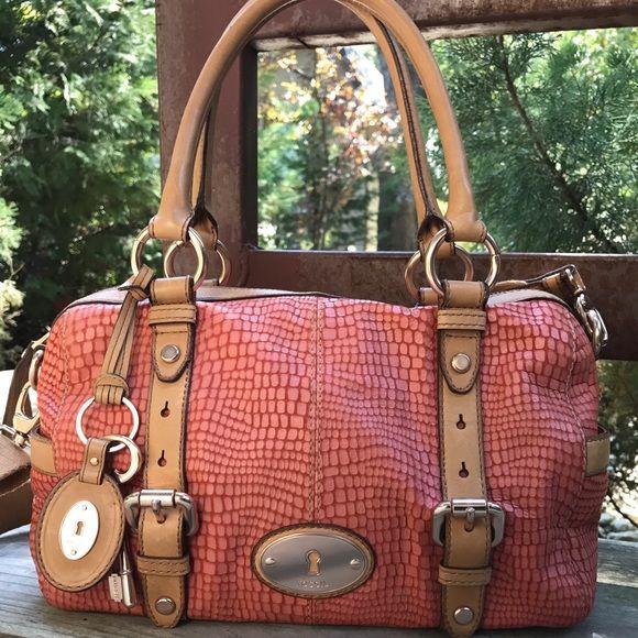 bb262fa7c23 Fossil Handbags - FOSSIL Maddox snakeskin bag w/rose gold hardware ...