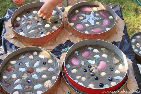 Trittsteine für das Gartenbeet- DIY aus Beton