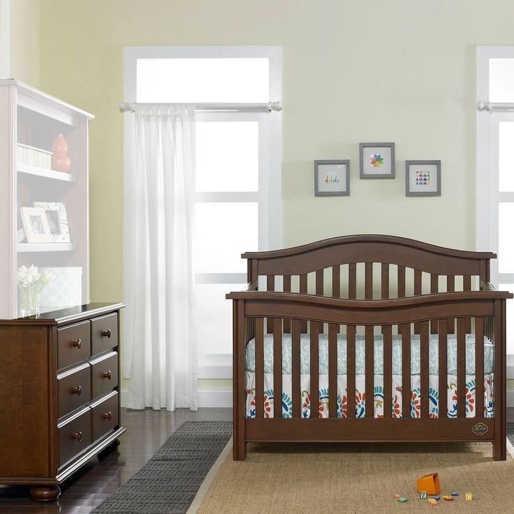 Bonavita kinsley 2 piece nursery set in chocolate crib for Bonavita nursery furniture
