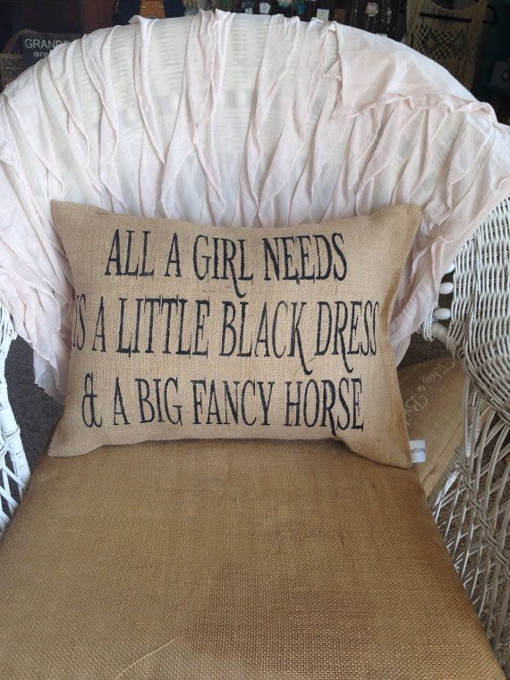 Horse lover pillow horse decor burlap pillow by burlapheartstrings
