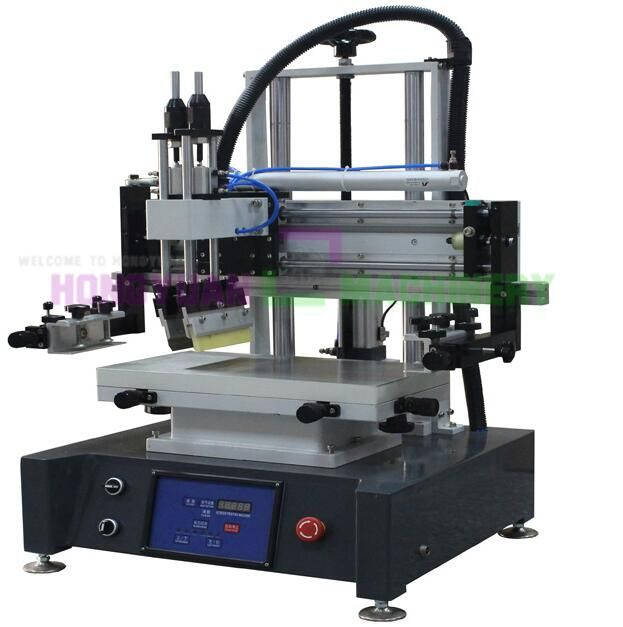 GW-2030MT desktop flat bed screen printing machine it is suitable for printing garment tagless or label