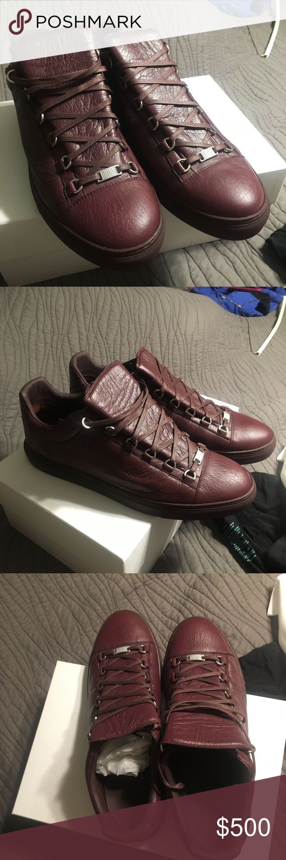 Balenciaga Arena Low size 47 Brand new deadstock arena sneaker from Balenciaga size 47 in Rouge Bourgogne Leather Balenciaga Shoes Sneakers