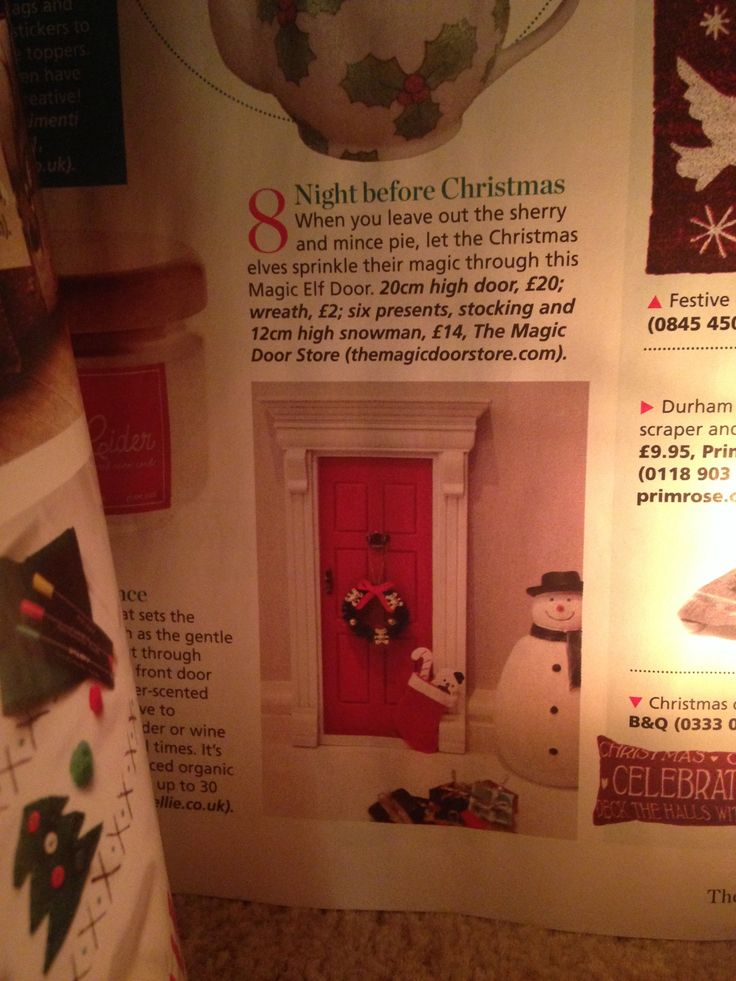 Magic Doors as featured in The Christmas Magazine. & 22 best Magic Doors at Christmas images on Pinterest | Elf door ... pezcame.com
