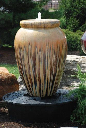 Fountain Planters Lawn Ornament Tall Planter Vase Without Pump Asian Garden Backyard Water Feature
