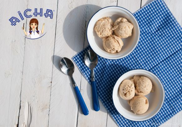 Aisha ijs, made with sweet potatoe confiture. A sweet and exotic flavour, which combines perfectly with spicy ginger in this icecream.