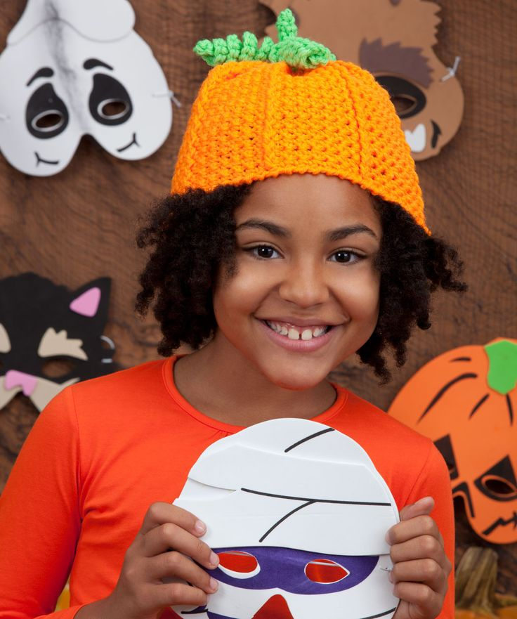 Free Crochet Hat Patterns For Halloween : crochet pumpkin hat free pattern designed by Kathleen Sams ...