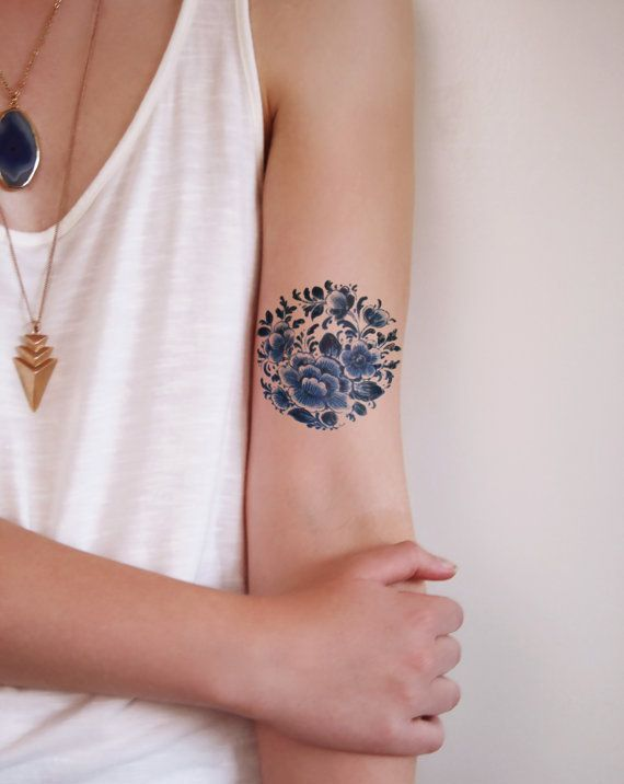 Floral Temporary Tattoos for Girls