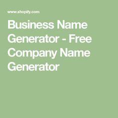 Business Name Generator - Free Company Name Generator