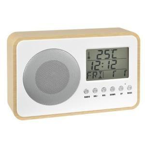 Radio réveil Oaky bois Blanc,Bois