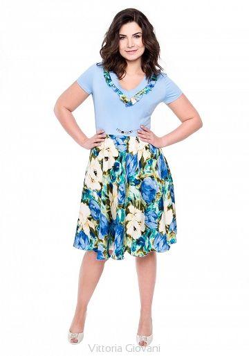 SUKIENKA PLUS SIZE NUVOLA - Vittoria Giovani - Sukienki dla Puszystych – Sukienki Duże Rozmiary – Sukienki XXL