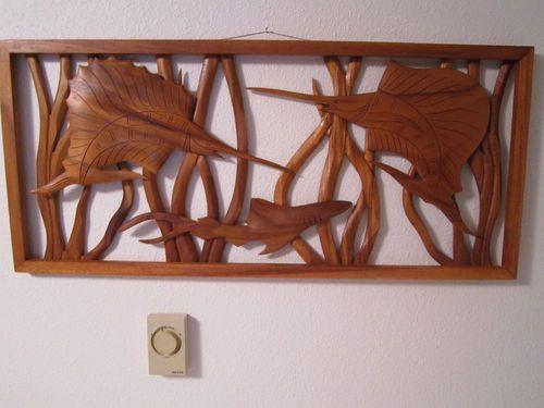 Hawaiian Fish California Rattan Tiki Bar Art Surfer Vtg Tropical Wall Sculpture | eBay..