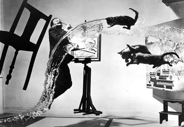 Atomic Dali is probably the most famous picture of the controversial Spanish painter, shot by Phillipe Halsman.