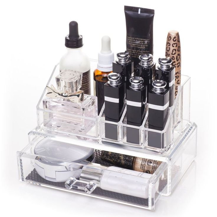 AVERY® Makeup Organizer med 1 skuffe + top