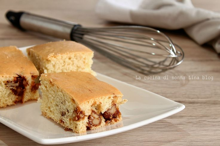 Blondies alle noci caramellate