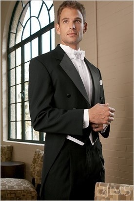 This will be the tail tuxedo that the groom, groomsmen, and the ring bearer will wear. Jenn said that she wanted this style and I wanted to modern it up just a bit so that it would blend today's times and the late 19th century English look that she is going for.