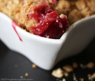 cherry cobbler...with some frozen cherries from Charlevoix from the summer.
