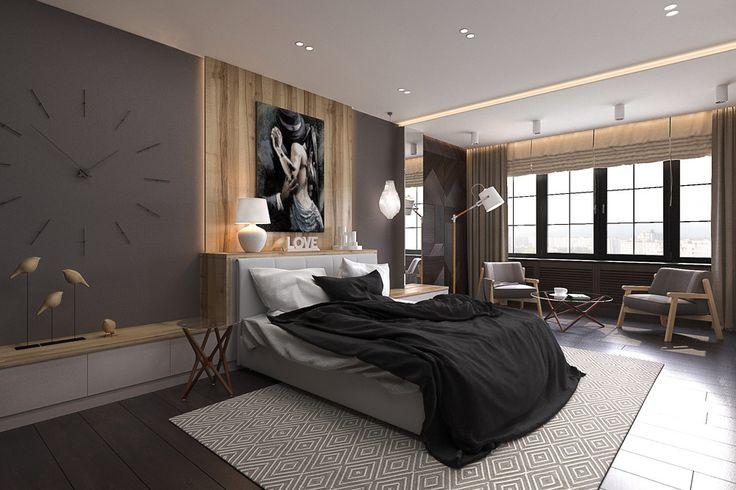 Спальня в современном стиле - Лучший дизайн спальни | PINWIN - конкурсы для архитекторов, дизайнеров, декораторов