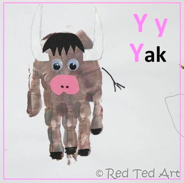 We are coming to and end in our #Handprint Animal #Alphabet series. We have Y for Yak! Only Z to go!! Wow.