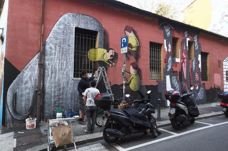 Bologna, writer da tutto il mondo con Làbas per dipingere la caserma Masini