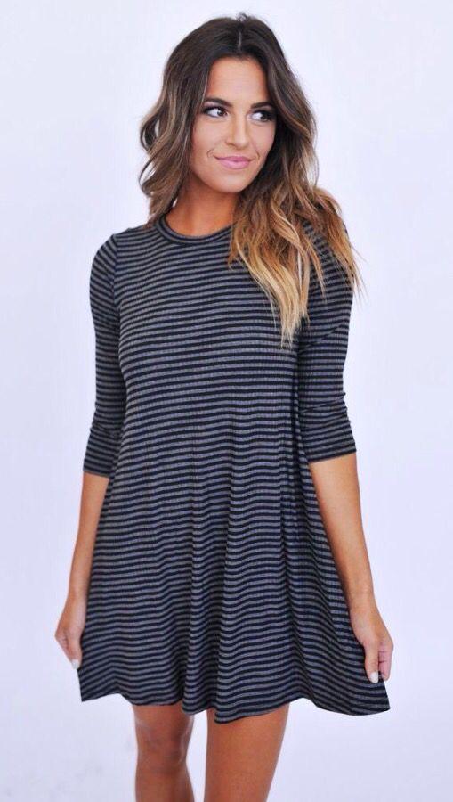 mid sleeve t shirt dress