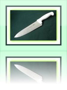 Tramontina 8″ Cook's Knife This is your most inexpensive, yet still top of the range knives. The blade is made from Damascus Steel. The bolster is reinforced by Solid Stainless Steel. It is sturdy, has a strong broad blade and a fine cutting edge. http://theceramicchefknives.com/best-chef-knives/ Damascus steel blade, Global G-2 Chef's Knife, hand-hammered, hand-hammered Damascus steel blade, Molybdenum, pakka wood,
