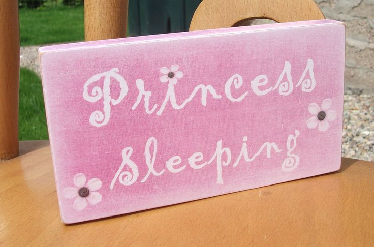 Princess sleeping, little girl, daughter, HANDMADE plaque