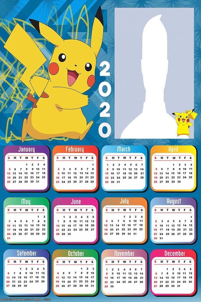 Pikachu Pokemon Calendar 2020 Croquis de dessin animé