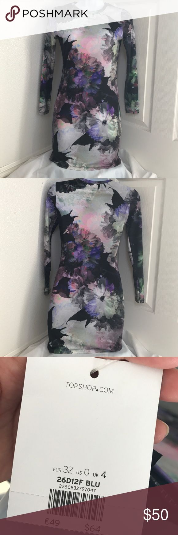 TOPSHOP Petite Size 0 midi dress New With Tags!! TOPSHOP petite midi dress. US- size 0 Topshop Dresses Midi