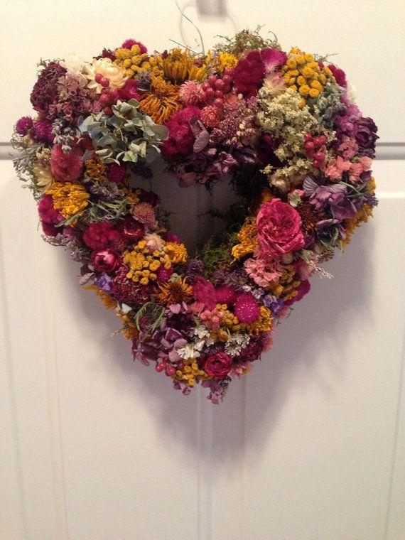 Dried Flower Wreath/ Dried Floral Wreath/Heart Wreath