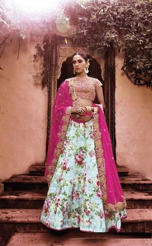 Multicolor Net Bridal Lehenga Choli ,Indian Dresses - 1